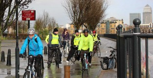 Healthy riders at Deptford Creek