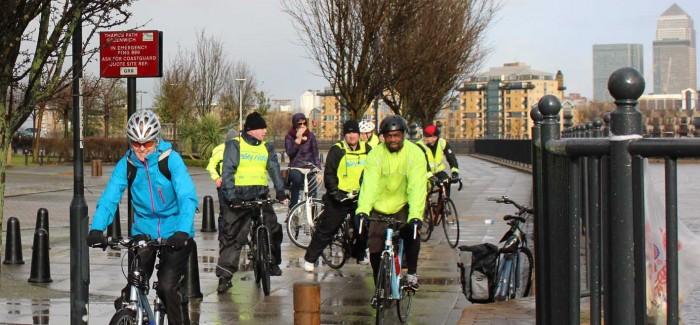 Healthy riders at Deptford Creek
