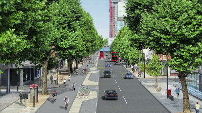 North-South Cycle Superhighway in Southwark