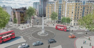 With proposed changes; view to west (from Borough Rd)