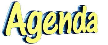 Agenda for AGM, 6.30, Weds 12th November