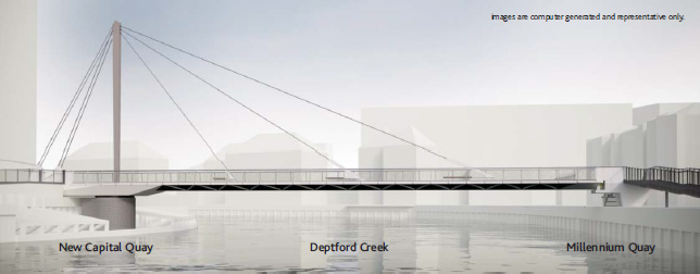 Deptford Creek Swing Bridge – Nearly ready