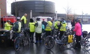 Briefing before start of ride