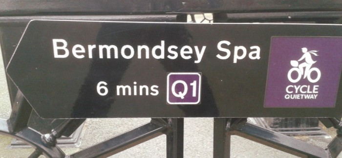 Quietway 1: New signs appearing