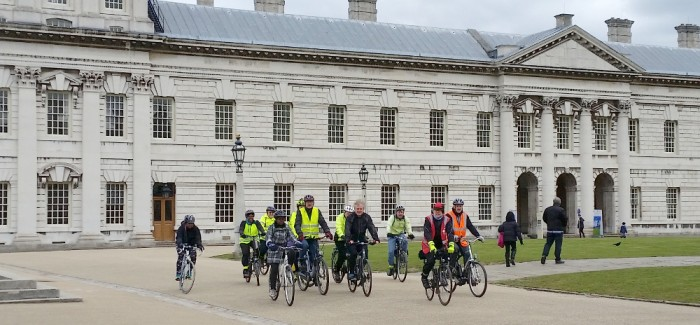 """""""+"""" Ride from Canada Water to Thames Flood Barrier"""
