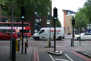 Junction of Rockingham Street and Newington Causeway