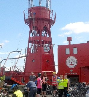 Another record – 31 riders on Healthy Ride to Trinity Buoy Wharf
