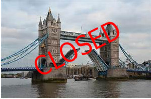 Tower Bridge Closure  – CS7 fail!
