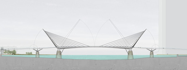 Latest ideas for the Brunel Bridge (or Mayflower Bridge?)