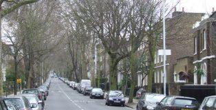 Camberwell Grove, SE5 Looking southwards up Camberwell Grove.
