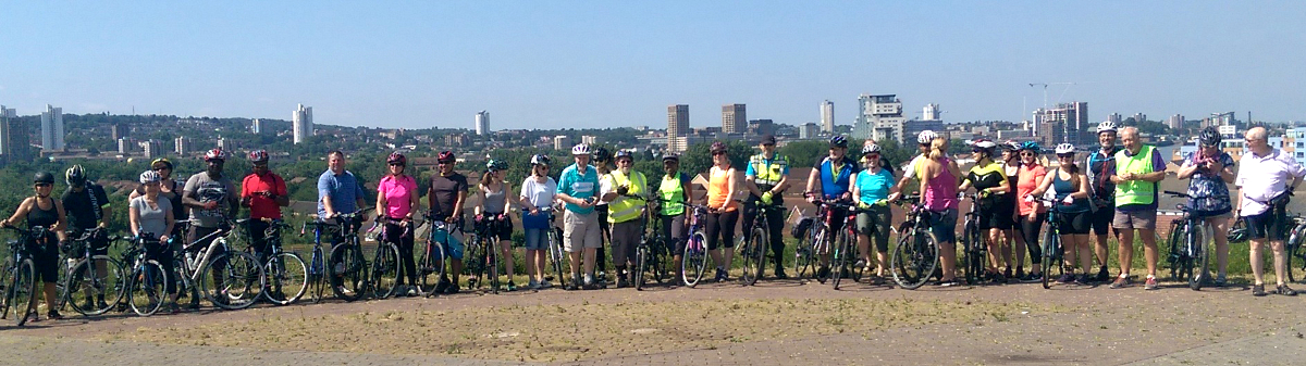 Another record for Healthy Rides – 35 riders!