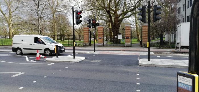 New crossing at Southwark Park