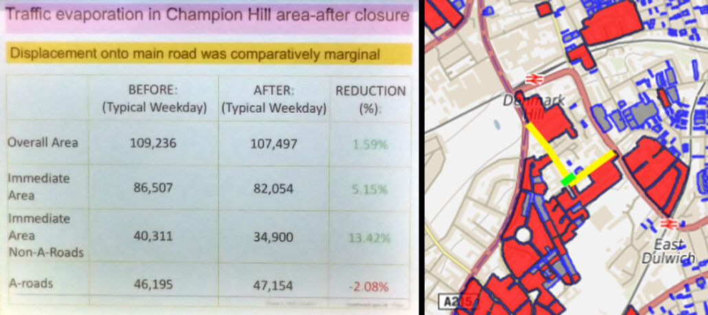 Traffic impacts Champion Hill